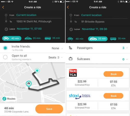 Here launches SoMo, a social transport app for planning and sharing rides