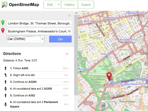 OpenStreetMap, the Wikipedia of maps, now offers A-to-B directions on its site to solicit more edits