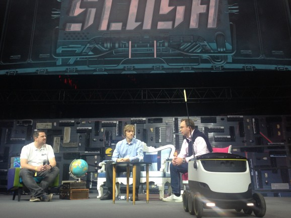 Starship Technologies' delivery robot makes first official public appearance at Slush