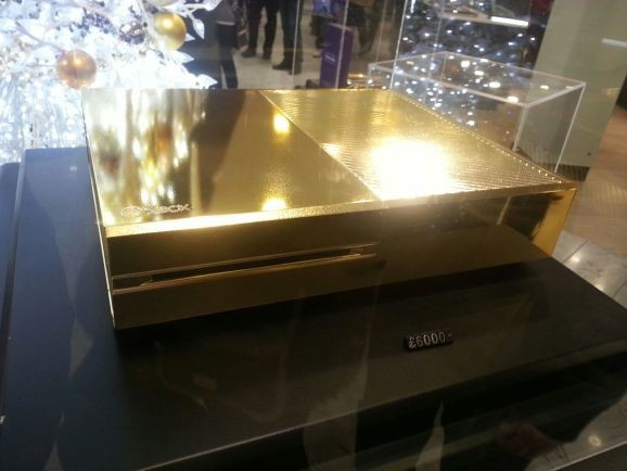 $10,000 gold-plated Xbox One is the ideal gift for the 1 percenter in your life