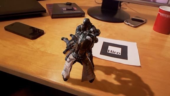 Watch an unbelievable augmented reality fight scene play out on a desk