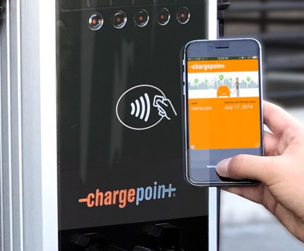 ChargePoint lets you start your electric car charge using NFC and a smartphone