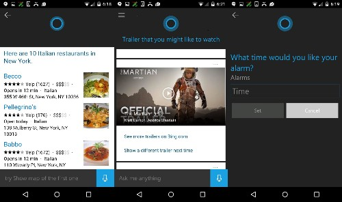 Microsoft launches Cortana public beta for Android phones