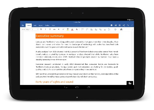 Microsoft releases Word, Excel, and PowerPoint for Android tablets out of preview