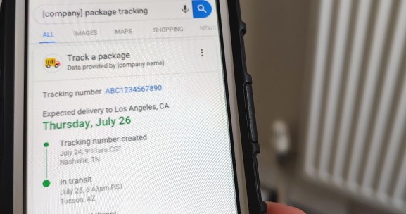 Package tracking is coming to Google Search