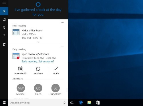 Microsoft's Cortana will now remind you to keep promises you made in emails