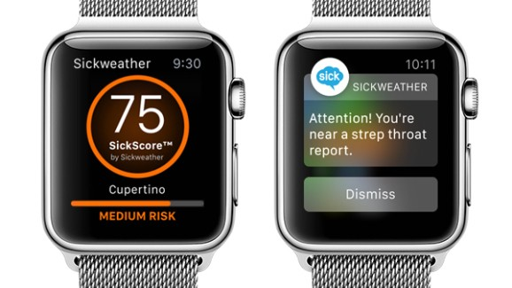 Sickweather Apple Watch app puts a 'Geiger counter for sickness' on your wrist
