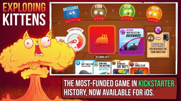 Exploding Kittens doesn't have enough bang as a mobile game yet