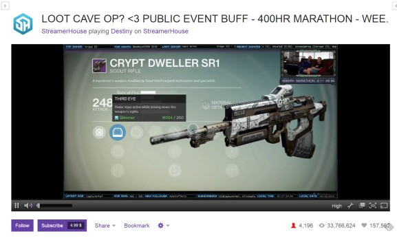 Destiny attracts Twitch's largest audience of the year for a console release