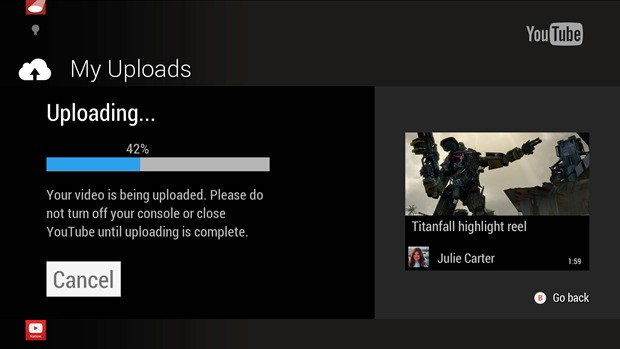 Xbox One finally lets you share game clips on YouTube
