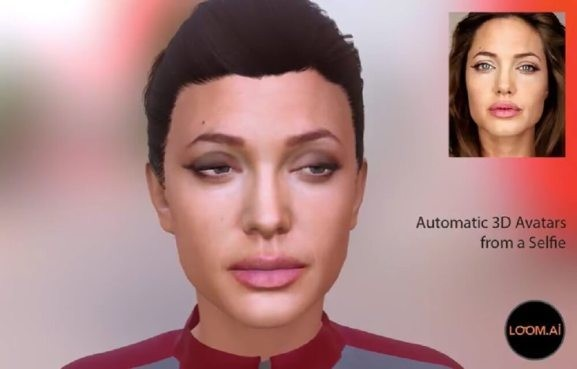 Loom.ai can automatically create a 3D avatar of your face from a single selfie