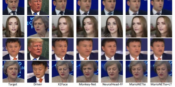 Researchers train AI to map a person's facial movements to any target headshot