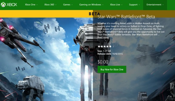 Star Wars: Battlefront's beta is live now on PlayStation 4 and Xbox One