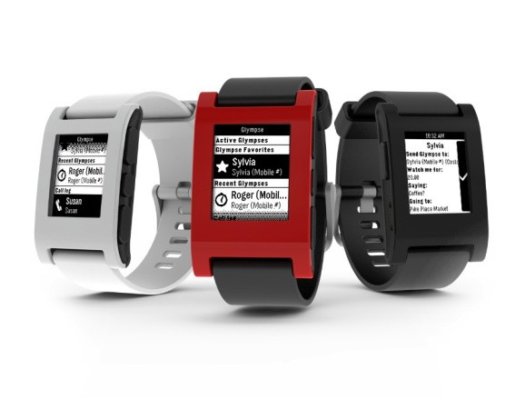 You can now use your Pebble watch to tell people you're running late