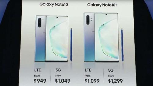 Samsung's Galaxy Note10 makes a 5G nightmare come true: Confusion