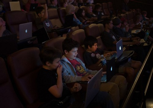 Super League Gaming lets kids play Minecraft in movie theaters