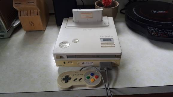 This is the rare PlayStation console built by Sony and Nintendo