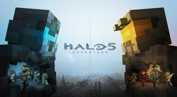 Microsoft uses Minecraft to market Halo 5: Guardians