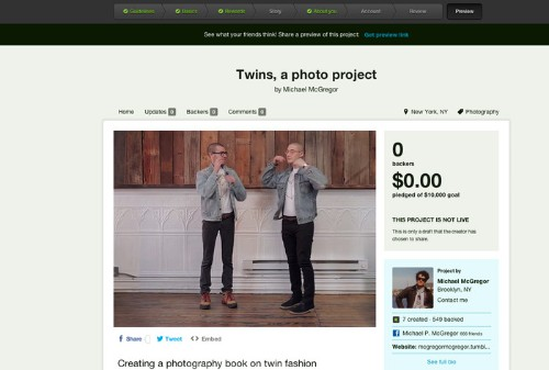 Kickstarter will now let your friends tell you your idea sucks with Project Preview