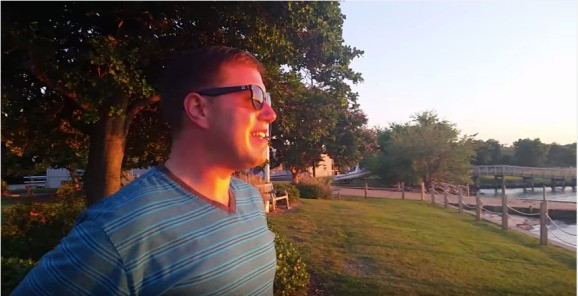 Watch a colorblind man become awestruck as he tries on EnChroma glasses at sunset