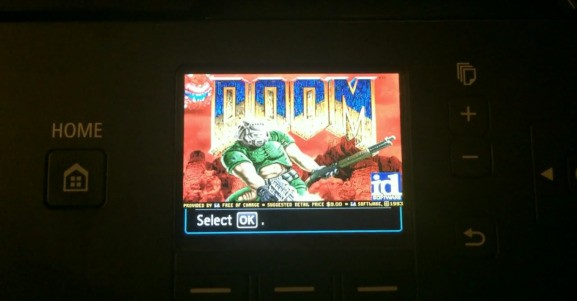This hacked Canon printer is running classic shooter Doom
