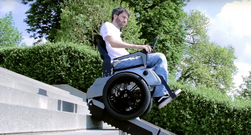 Students in Switzerland built a wheelchair that knows how to climb stairs