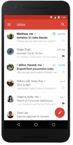 Gmail for Android gets Microsoft Exchange support