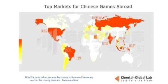 Chinese mobile games are spreading around the globe