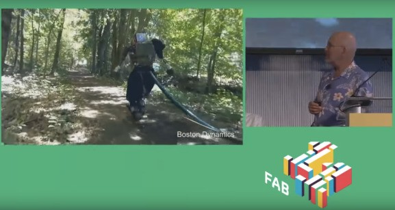 Watch a Boston Dynamics humanoid robot wander around outside