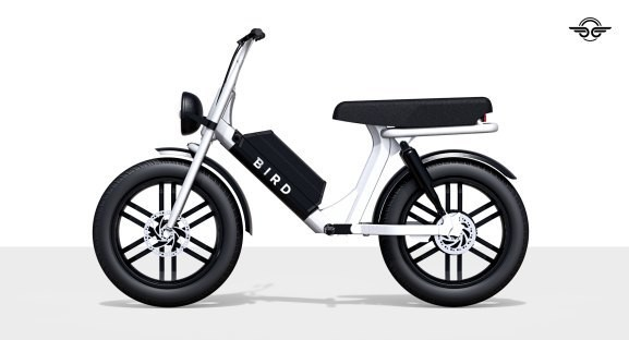 Bird's Cruiser is a two-seater electric bike with a 52-volt battery and LCD screen