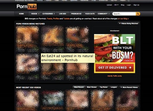 BLT with your BDSM? Eat24 says ads on porn sites is good for business