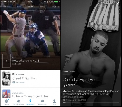 Weeks after Moments' launch, Twitter opens the door to brand marketers