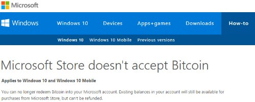 Microsoft still accepts Bitcoin, apologizes for 'inaccurate information' on its site
