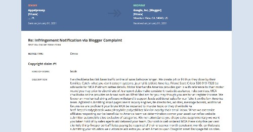 Spammers are flooding Google with fake copyright complaints