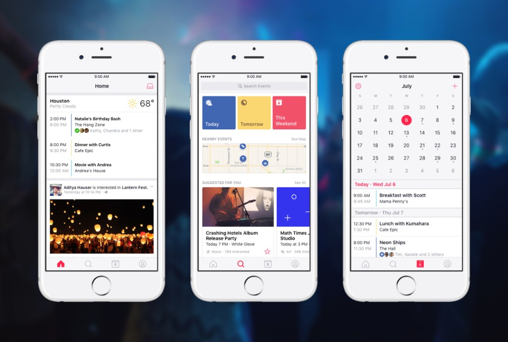 Facebook launches standalone Events app