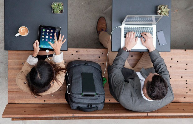 The Backed Pack: A charging backpack, a body sensor bracelet, & a virtual reality headset