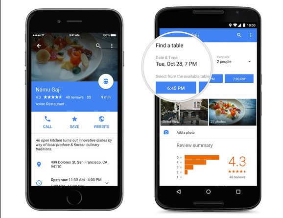Google redesigns Maps for iPhone and Android Lollipop, adds restaurant reservations