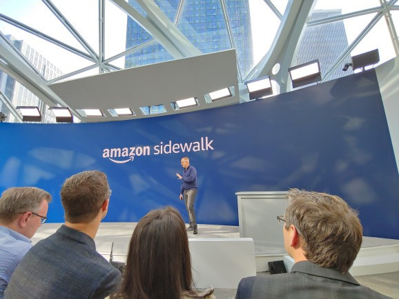 Amazon Sidewalk is a wireless protocol that can reach up to a mile away
