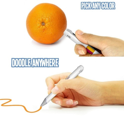 This smart pen's ink changes based on whatever color you scan