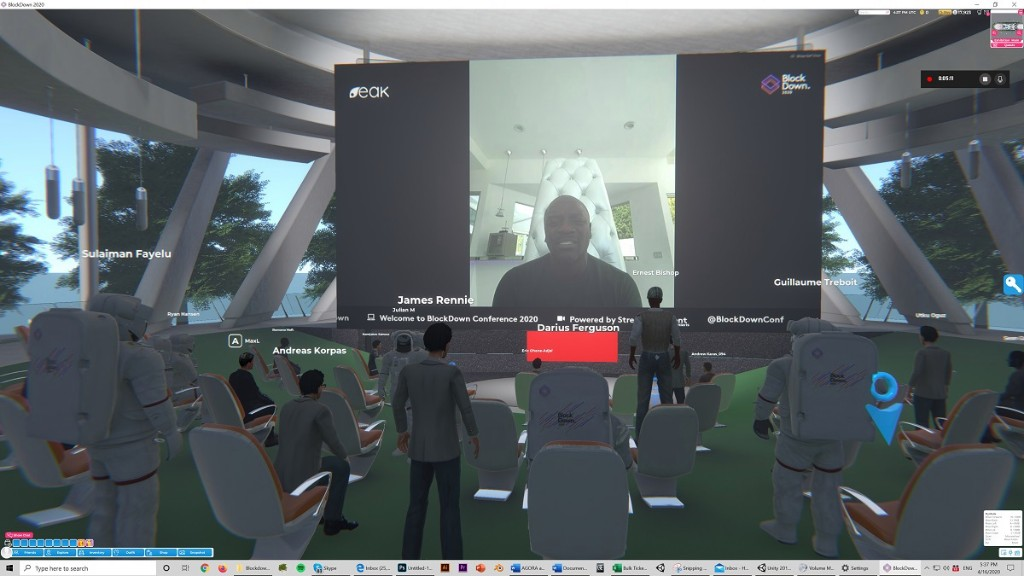 Breakroom enables blockchain conference in a virtual world