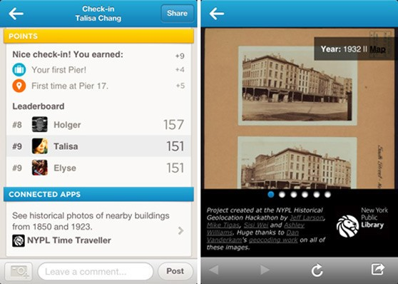 Foursquare now lets you 'visit' NYC locales from over 100 years ago