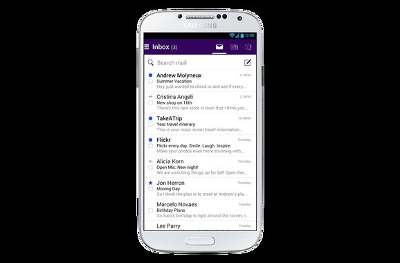 Yahoo Mail for Android adds news, search, videos, & Flickr images