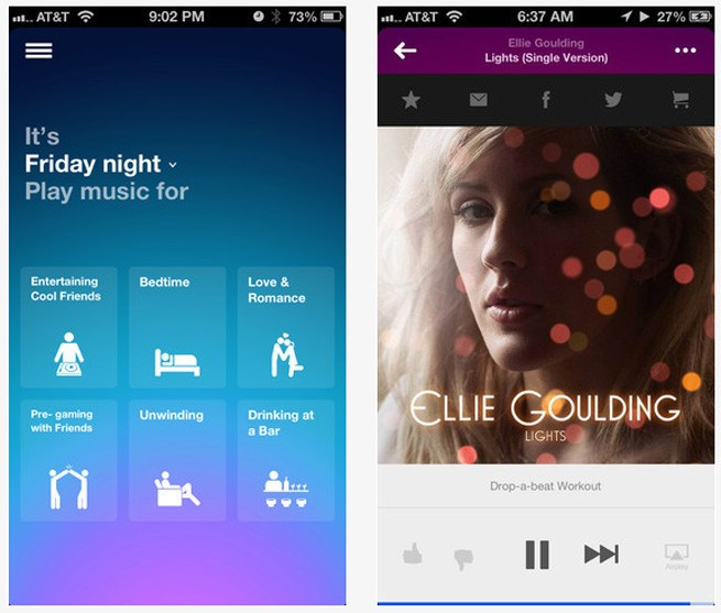 Songza's new iOS app predicts exactly what music you need to hear now