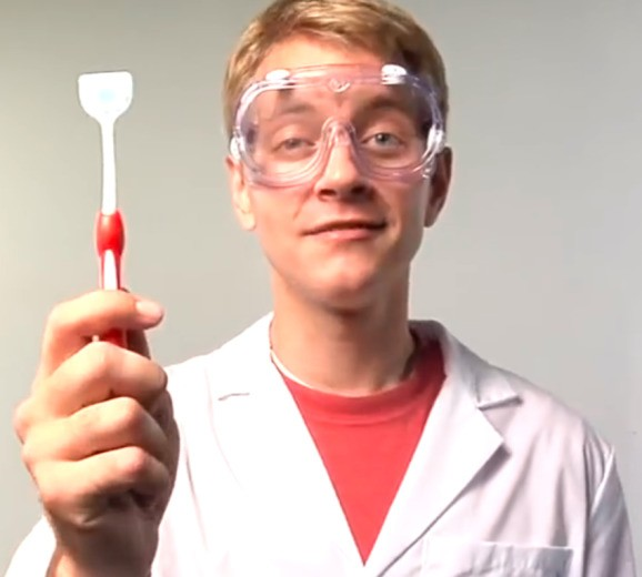 Herein lies the tale of a tongue toothbrush, YouTube, and 'reverse marketing'