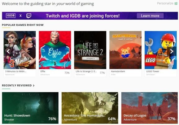 Twitch acquires IGDB to better index the games broadcasters are playing