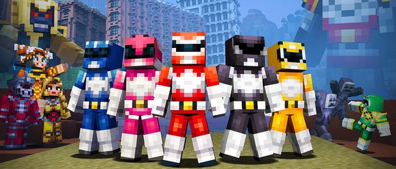 Minecraft gets Mighty Morphin' Power Rangers skins — including its real heroes, Bulk and Skull