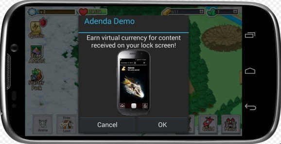 Adenda lets games and apps display animations on your Android phone's lock screen