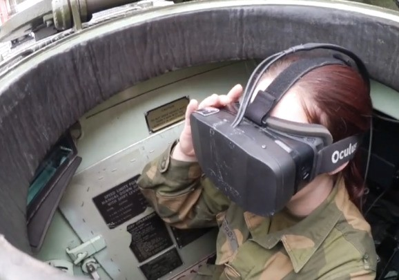 The Oculus VR ain't just for games. Tank drivers and car manufacturers use it, too