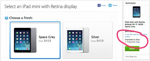 Apple's new iPad Mini retina is in very short supply