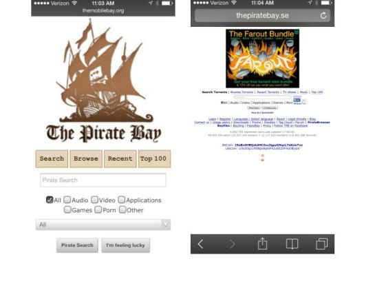 Pirate Bay launches Mobile Bay so you can browse torrents on your smartphone